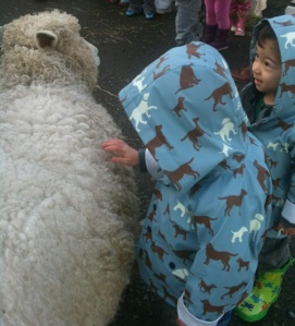 Seattle with kids at Kelsey Creek Farm