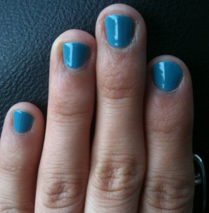 julep blue nail polish