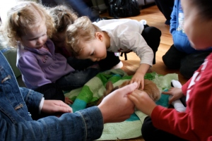 bunny party with kids
