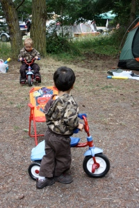 bringing tricycles to the campsite