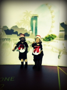 homemade cat in the hat costumes at the singapore great wheel