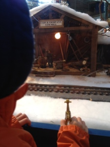 Little toy trains in Seattle at Christmas