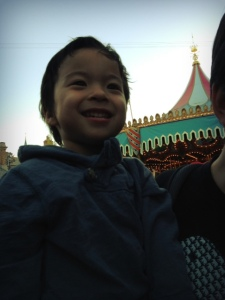 Disneyland with a boy terrified of rides