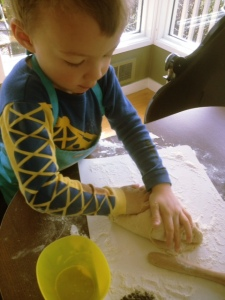 Making bunny buns with kids