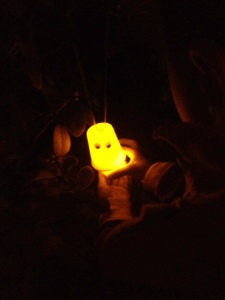 Glowing ghost craft with kids