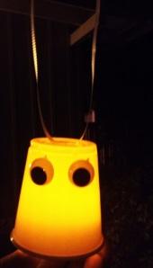 Ghost glowing craft for preschoolers