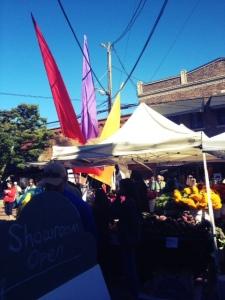 ballard farmers market on the weekend in seattle