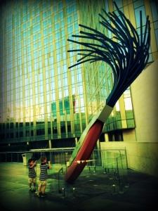 Big Eraser sculpture in Las Vegas