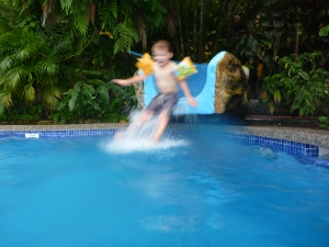 hotel with waterslide in manuel antonio costa rica