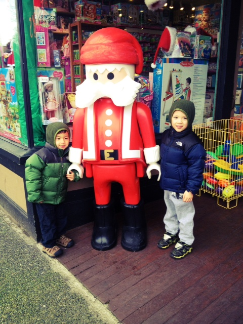 Post with plastic santa if your kids are scared of santa