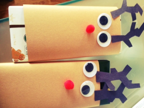 easy reindeer chocolate bar craft from preschoolers to teacher