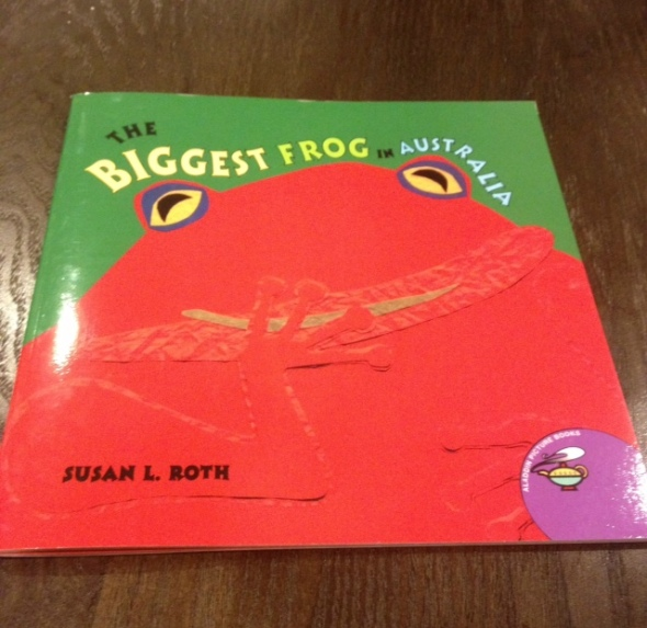 The biggest frog in Australia is a great book to read with kids before visiting
