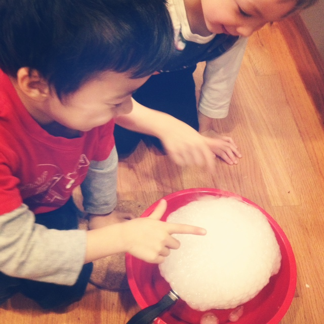 Simple science at home with dry ice from Amazon Fresh