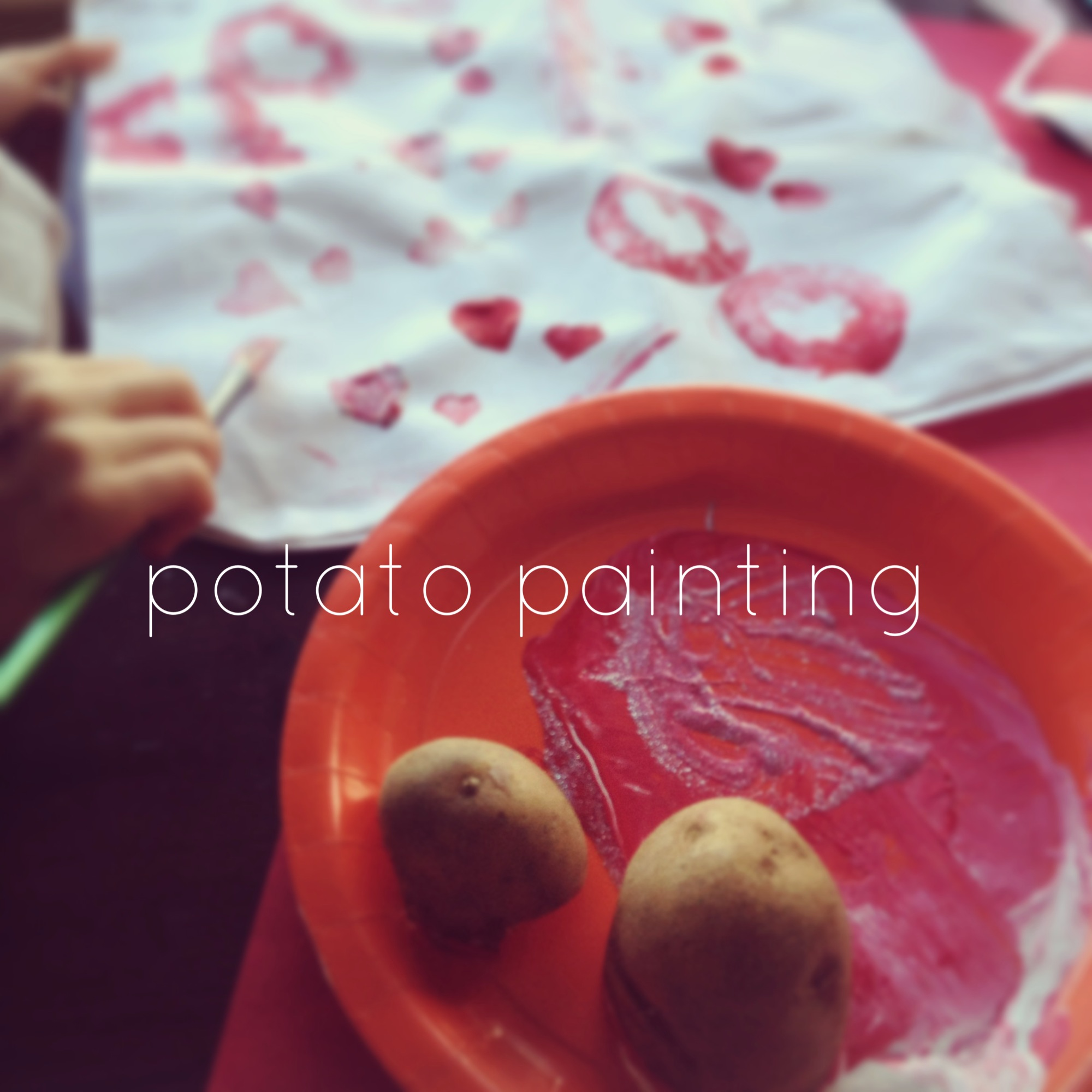 Potato painting
