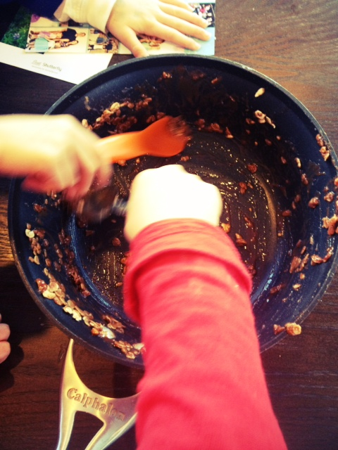 No-bake cookies with kids