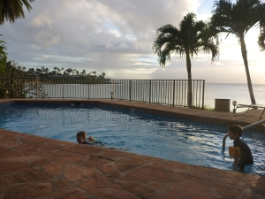 Pool at Napili Kai Beach Resort with kids