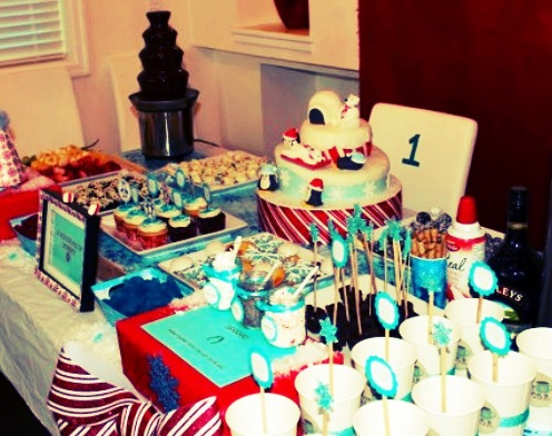 Winter themed one-year old party
