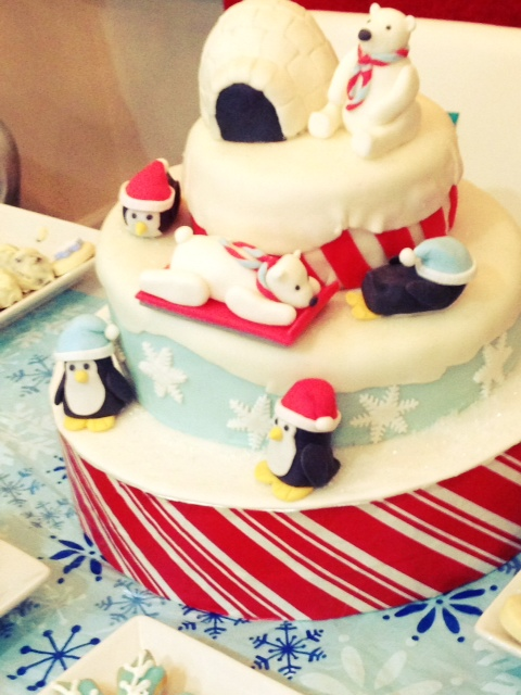 Winter themed one year old party