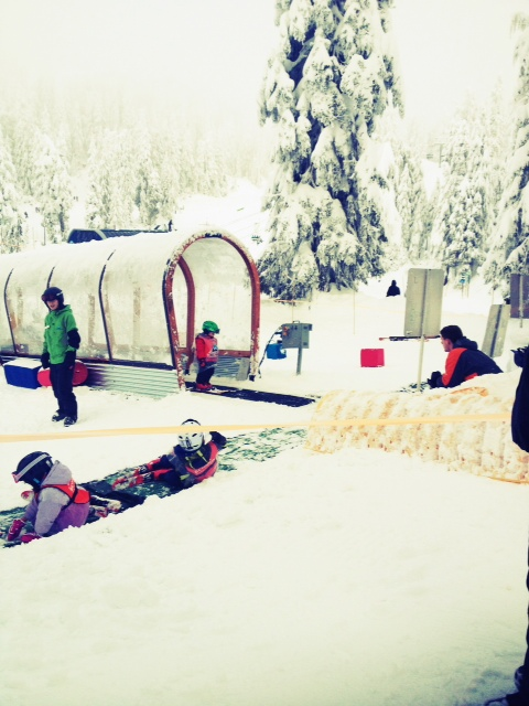 Magic carpet at kids' ski lessons on mount seymour