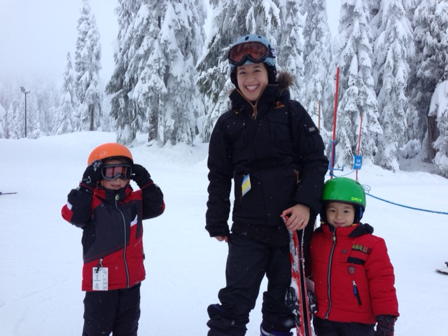 Skiing with kids at mount seymour
