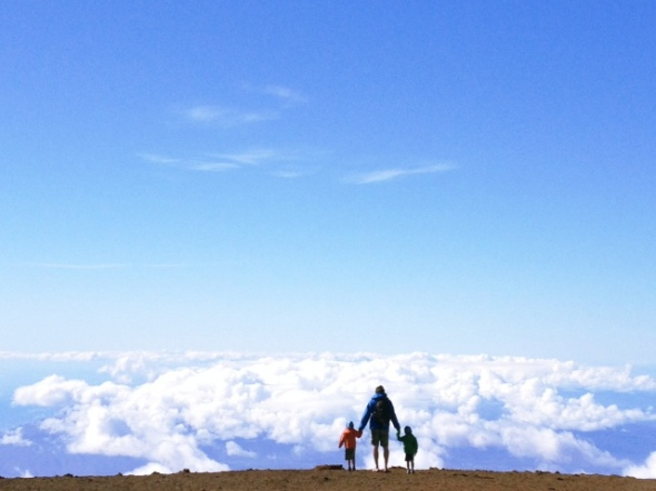 Maui with kids at the top of the world