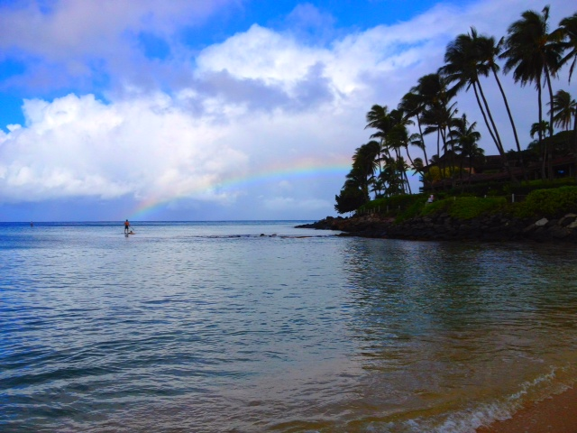 Maui with kids paddleboarding