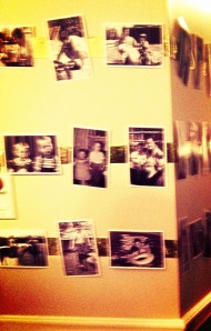 Photo wall for 60th birthday party