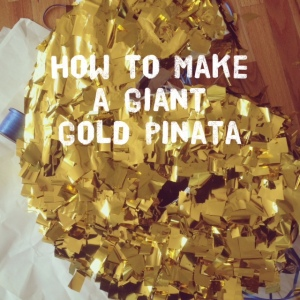 How to make a giant gold pullstring pinata