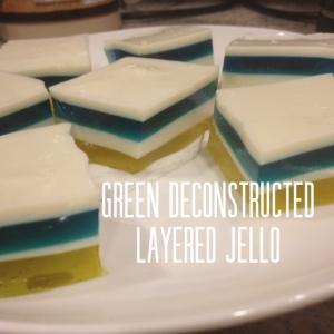 Green deconstructed layered jello recipe